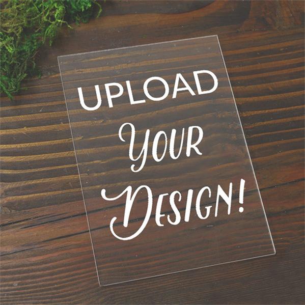 Акриловая Свадебная пригласительная открытка с УФ-печатью на заказ от производителя