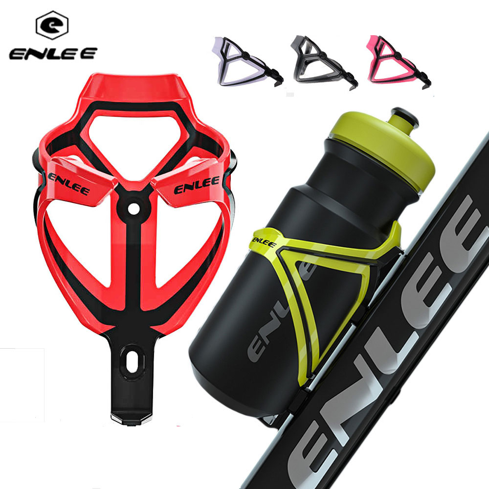 ENLEE Colorful MTB Bike Water Bottle Cage Rack FOR Road / Mountain Bicycle Cycling Accessories