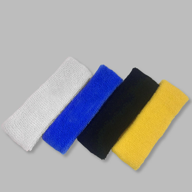 Outdoor Workout Gym Fitness Home Exercise Elastic Sports Headbands Blank Knitted Elastic Cotton Terry Sports Sweatband