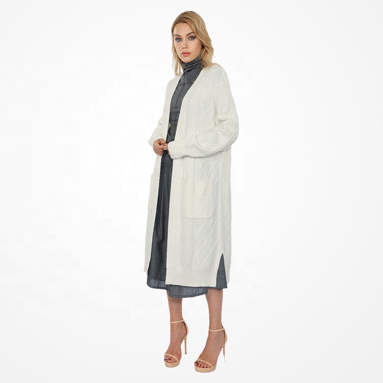 2021 Long Sleeve Jumper Casual Autumn Winter Knitted Loose Oversized Women Cardigan Sweater