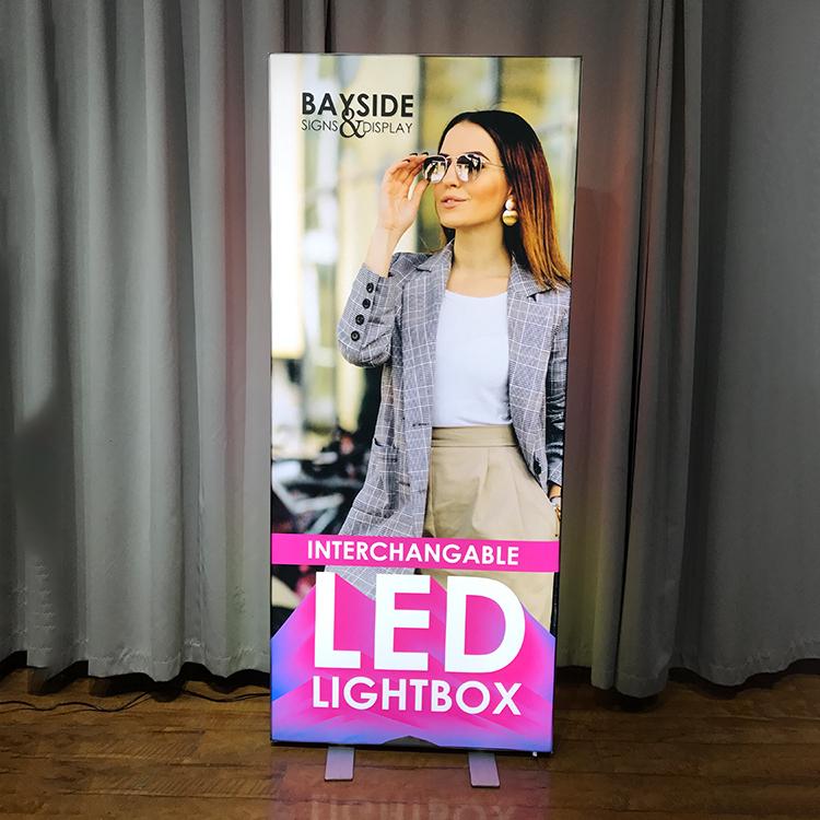 Обновленная версия портативного светодиодного светильника в алюминиевой рамке, тканевый световой короб 80 мм seg для выставки, выставки, рекламного дисплея