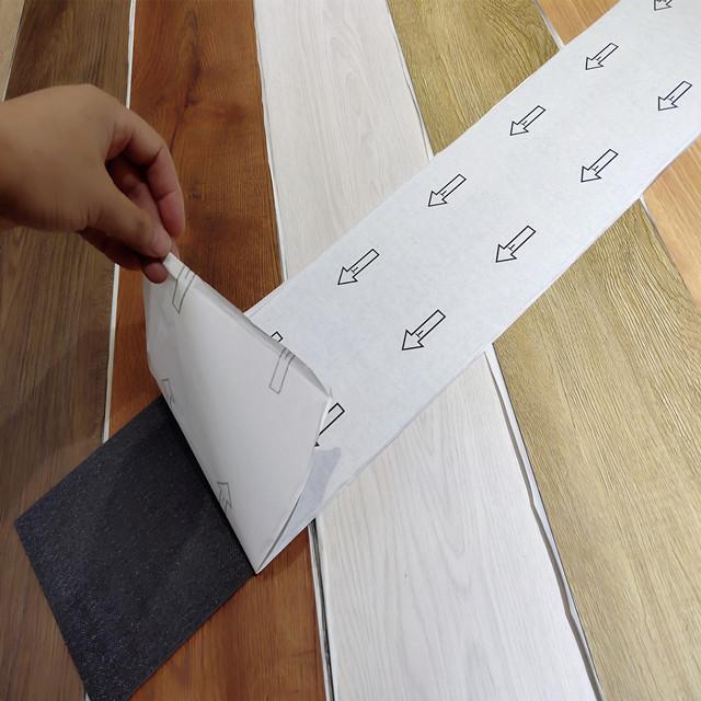 Само клеющийся винил пол/кожуру и палкой плитка ПВХ напольное покрытие из пластика