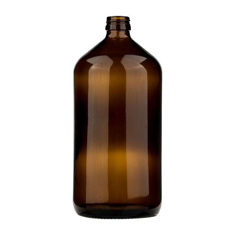 Большая емкость 1000 мл фармацевтическая Янтарная стеклянная бутылка