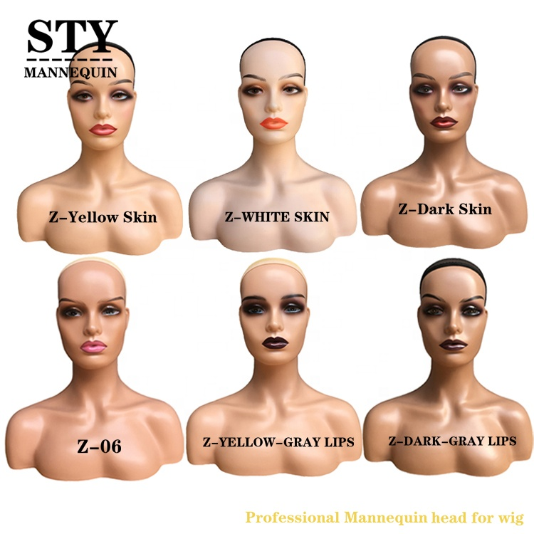 mannequin bust for hats black female mannequin wig display wholesale human hair mannequin head