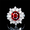 18k gold 4.04ct natural unheated pigeon blood red ruby ring