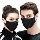 Cotton Mask Cotton Fast Delivery Fashion Custom Black Cotton Fabric Mask Washable Reusable Sublimation Mask Party Mask