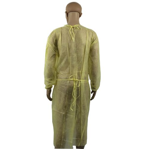 Yellow PP Non Woven Safety Gown Batas Desechables Isolation Gown - KingCare   KingCare.net