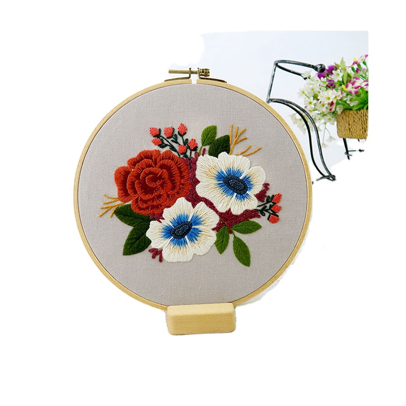 Xiurun  Delicate 100% HOT SALE AMAZON diy embroidery kit for starter kit with instructions