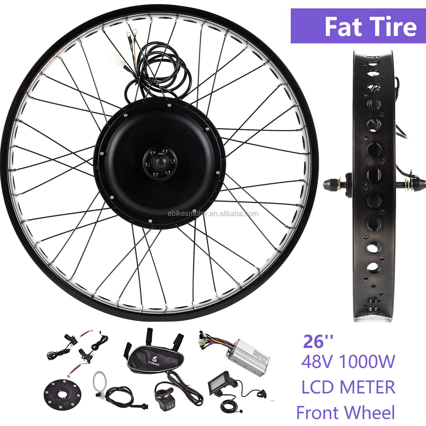 250w 350w 500w Electric Bicycle Motor/E-bicycle Roller-brake Front Wheel Hub Motor