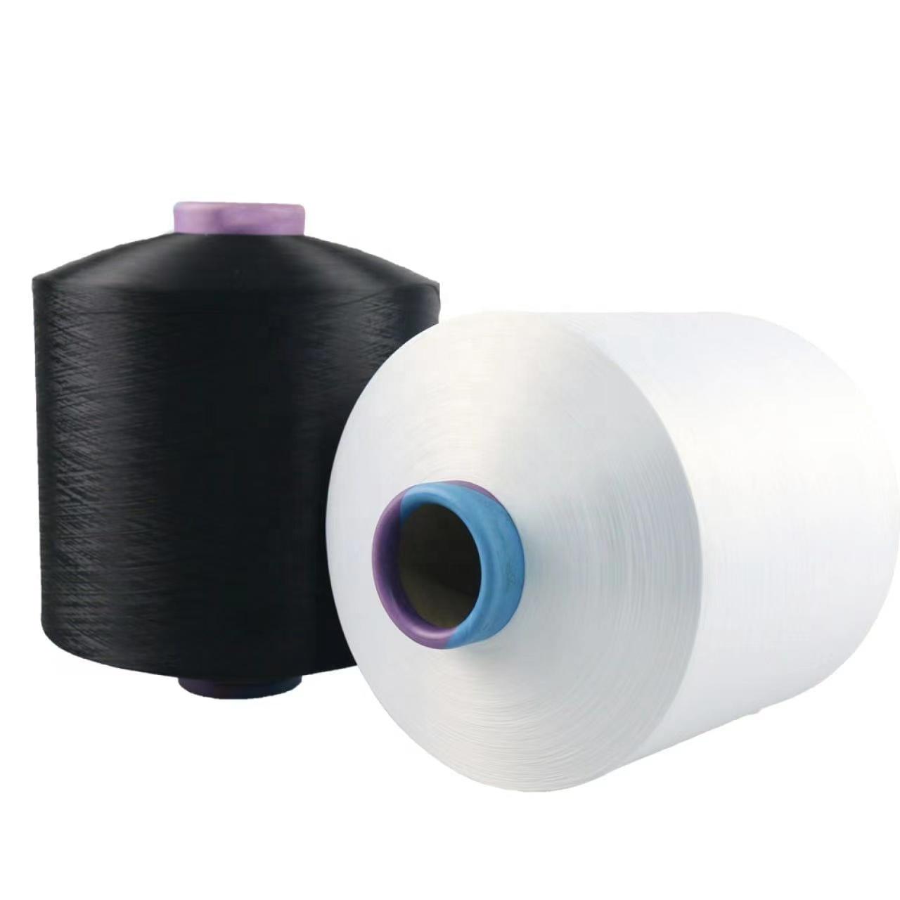 polyester DTY yarn .Polyester knitting Yarn 150D/48F raw white