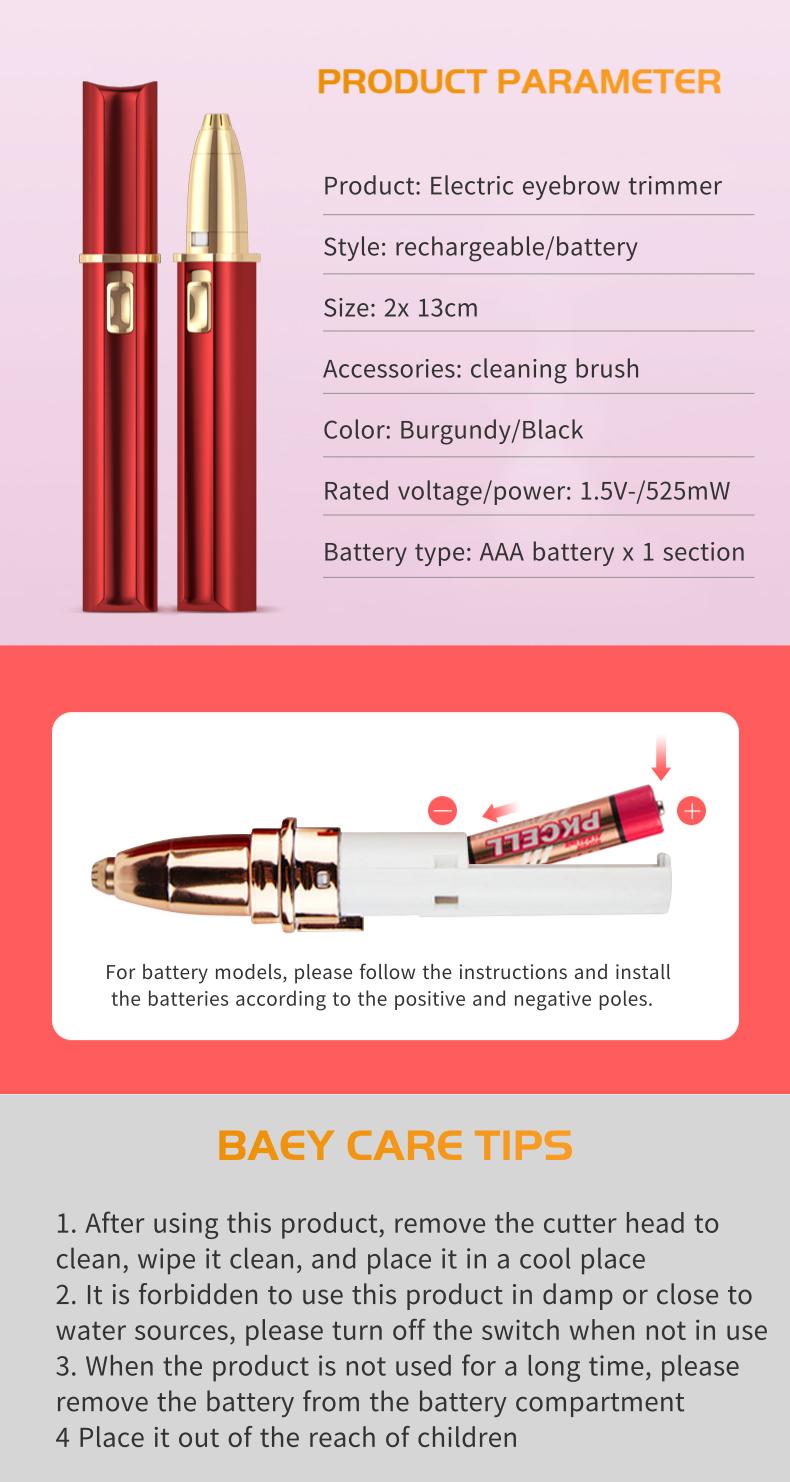 Yuhui Hot Selling Eyebrow Trimmer Hair Aparador de Sobrancelhas Eyebrow Depilator Eyebrow Razor Brow Knife Depilador Cejas