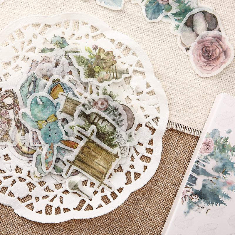 Old Times Vintage Floral Stickers Set Scrapbooking Stickers For Journal Planner Diy Crafts Scrapbooking