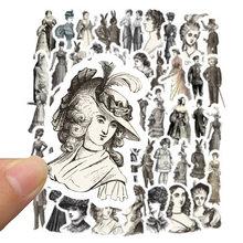 50 шт. Ретро Европейская Женская мультяшная наклейка для ноутбука мото скейтборд багаж холодильник ноутбук игрушечный Ноутбук наклейка s F5(Китай)