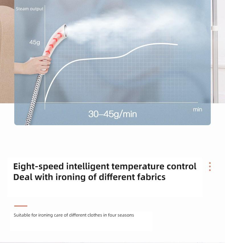 Электронный мощный вертикальный отпариватель для одежды, 1,6 л, 1800 Вт, белый