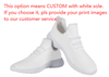 customized WHITE sole