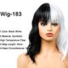 Peluca-183 negro blanco