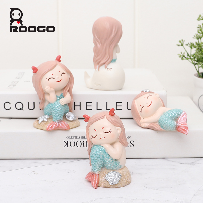 Roogo Mermaid Legend Mini Figurines Resin Crafts Cartoon Animal Home Decorations For Room Decor Best Gift For Children Buy Cute Home Accessories Home Garden Resin Figurine Mini Figurine For Living Room Product On