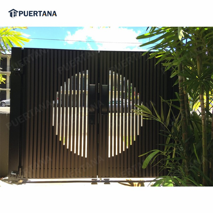 Современный дизайн главных ворот для дома, алюминиевые раздвижные ворота