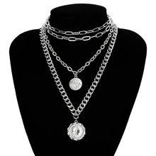 Ингемарк панк Майами кубинское колье ожерелье преувеличенная толстая цепочка Европейская и американская мода королева кулон ожерелье жен...(Китай)
