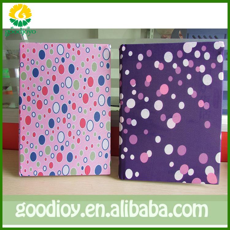 Адаптируемые под требования заказчика Swening стиль A4 размеры спандекс Книжное производство мягкой обложке ткани обложка книги