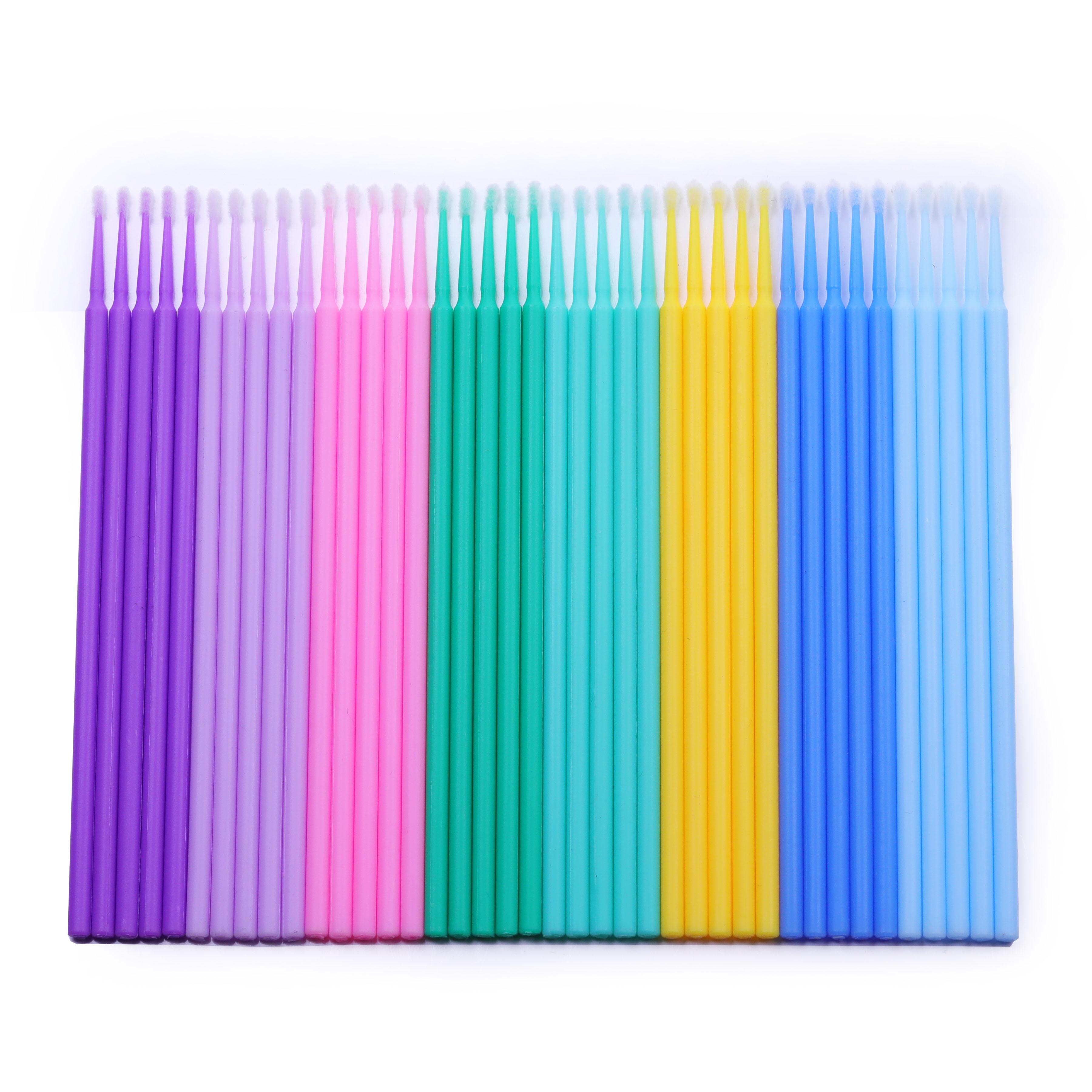Одноразовые стоматологические ватные палочки для наращивания ресниц, чистящая микрощетка-аппликатор