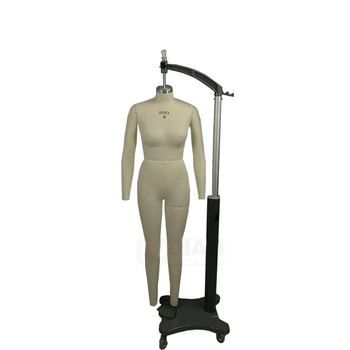 Dress form for tailoring Standard full body fabric covered female 3d detachable mannequin