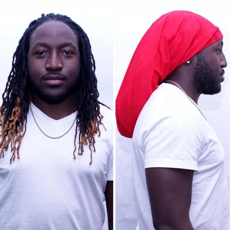 Ailangke Mens Loc Dreadlock Stocking Caps Rasta Crown Turban Hat Dreadlock Hat
