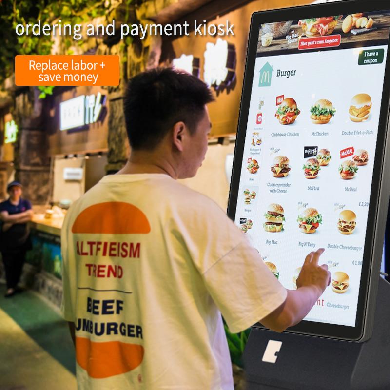23 дюймов платежный терминал киоск автоматизированные заказ аппараты самообслуживания касса супермаркета оборудование очереди билетной системой