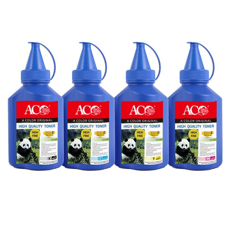 ACO производитель Mayorista Премиум цвет бутылки совместимого тонера, порошок для картриджа HP CF540A CF541A CF542A CF543A 203A
