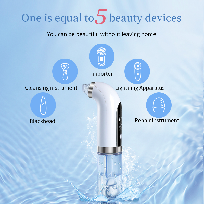 Skin care new product water cycle pore acne blackhead remover with electric usb rechargeable