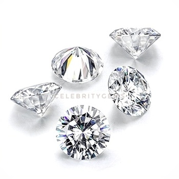 Russian lowest rate fake diamond white 8h & 8a cut round cubic zirconia price for rings