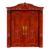 China Supplier Front Teak Wood Double Door Hand Carved Flower Pattern Design