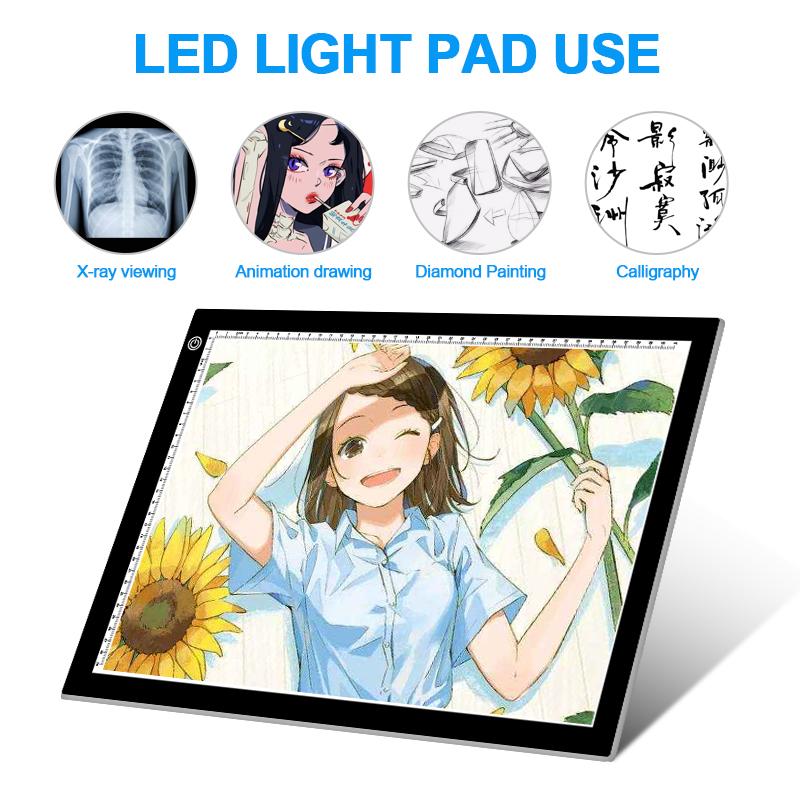 Художественная тонкая светодиодная трафаретная доска artist A3, световой короб, подсветка, стол для рисования с подсветкой, светодиодная подсветка для татуировок, коврик для рисования