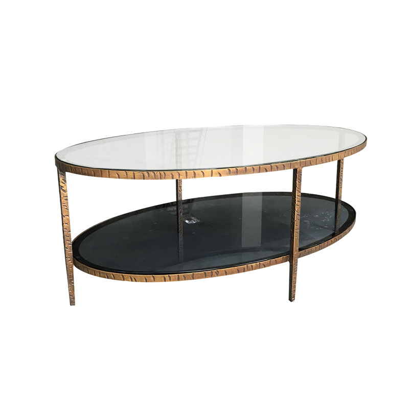 Forged Iron Base Glass Top Oval Coffee Table Buy Oval Coffee Table Glass Top Oval Coffee Table Oval Glass Coffee Table Product On Alibaba Com