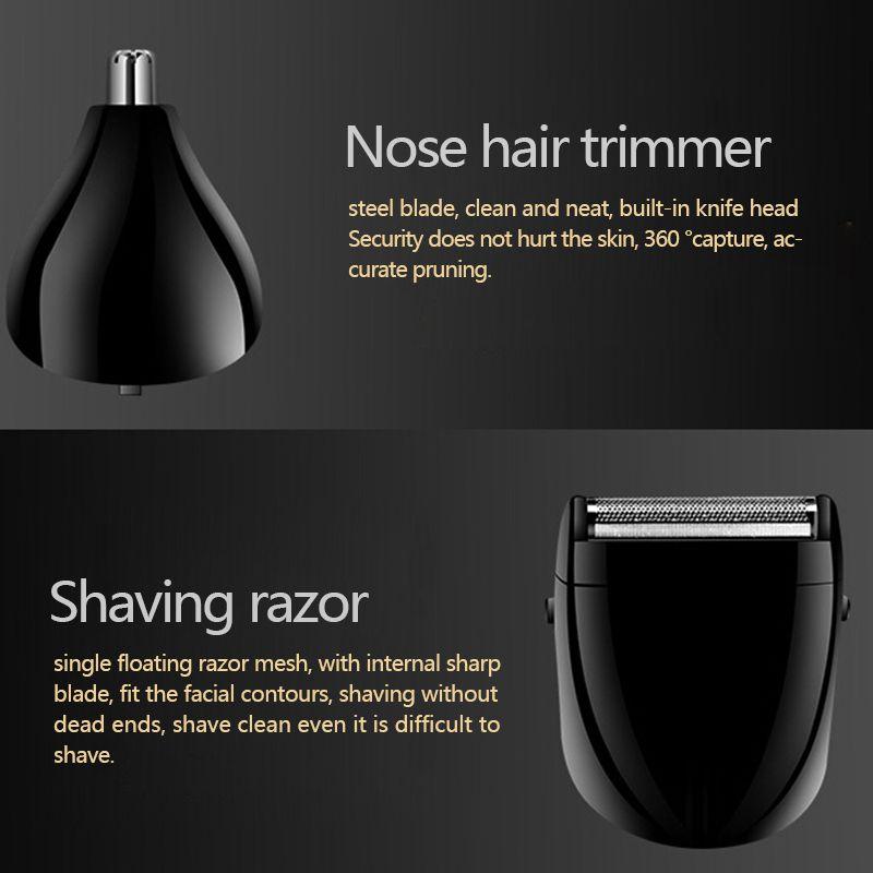 Водонепроницаемая многофункциональная беспроводная перезаряжаемая Бритва для носа и бороды Триммер профессиональная электрическая бритва парикмахерский набор