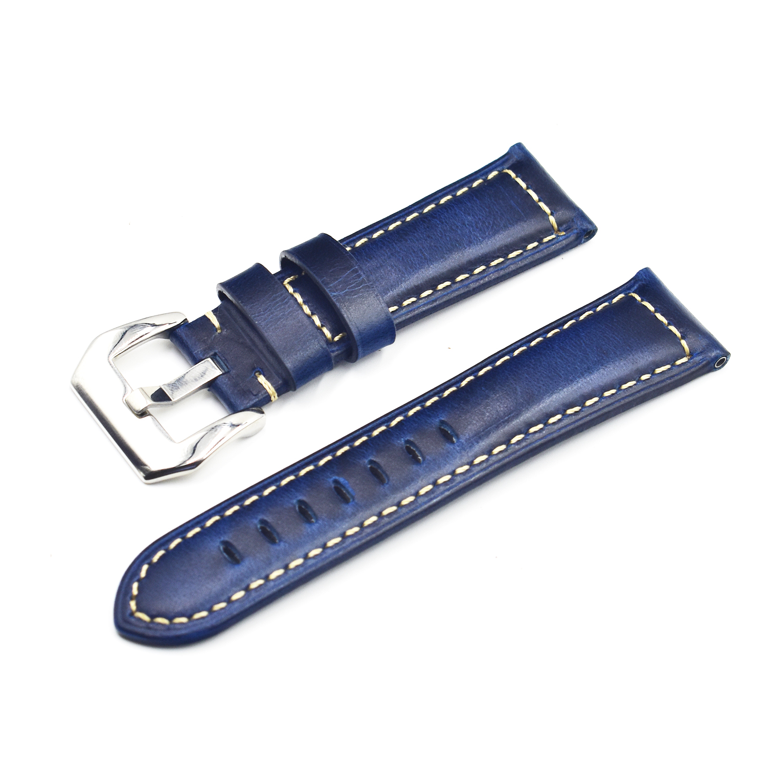 Leather Watch Band  Horween Leather Strap in Natural Chromexcel Custom and Handmade 18mm, 20mm, 22mm, 24mm watch strap for PAM