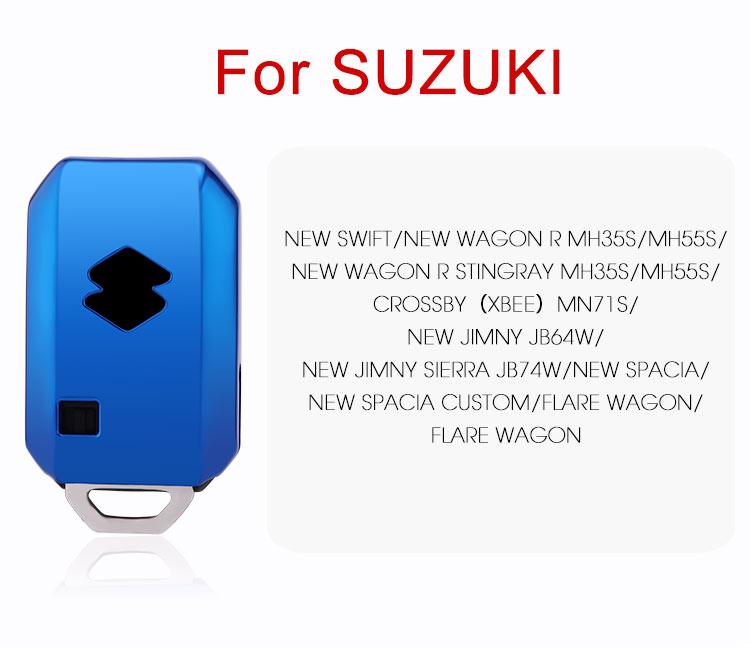 Чехол для автомобильного ключа для SUZUKI Jimny New Swift New Wagon R MH35S MH55S, чехол для ключа, новинка Spacia Custom Flare Wagon, защитный чехол из ТПУ