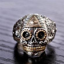Модные панковские кольца для мужчин в стиле панк ювелирные изделия Серебряное кольцо для мужчин на Хэллоуин вечерние винтажные кольца для ...(Китай)