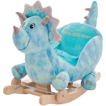 Hot sales plush baby dinosaur rocking chair with baby lullaby music