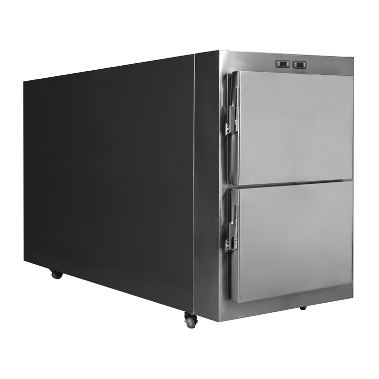 Roundfin China supplier 304 S.S body cooler 2 corpse cheap and good mortuary refrigerator RD-2