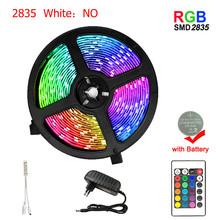 5050 5 м RGB светодиодный светильник SMD2835 5050 5 м 10 м водонепроницаемая лента RGB DC12V лента Диодная Светодиодная лента s лампа с ИК-пультом дистанцио...(Китай)