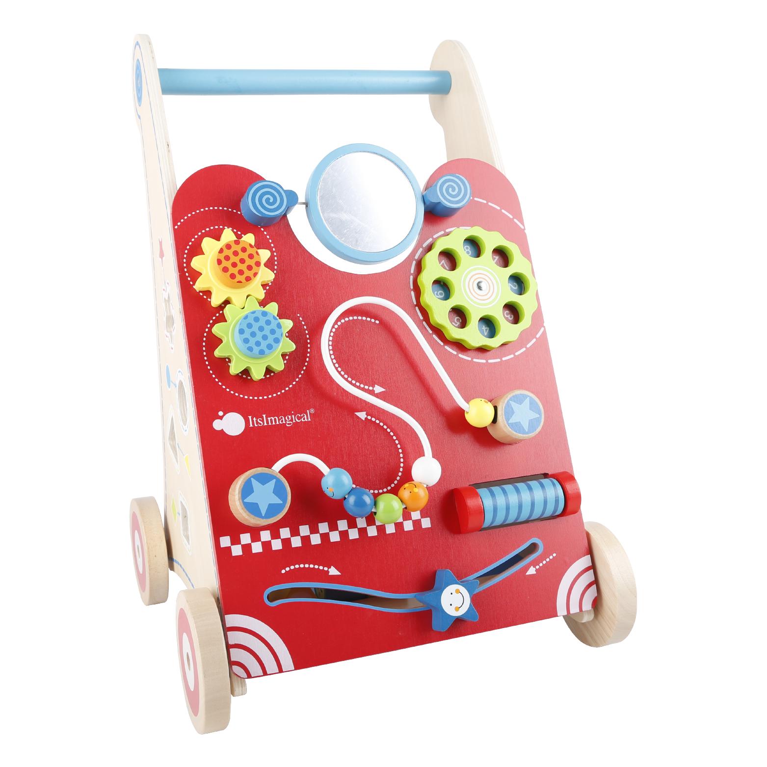 Новые детские развивающие игрушки, деревянный активный обучающий детский ходунок