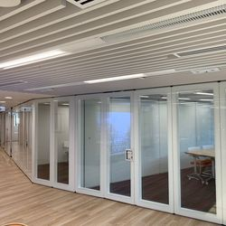 Modern glass White border transparent privacy soundproof Office partition wall