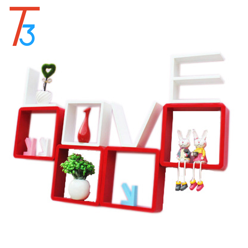Decorative wood wall display shelves for sale