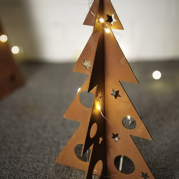 Laser Cut Xmas Decoration Craft Metal Christmas Tree Decor