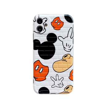 INS Hot Mickey Minnie IMD Brick Style Cartoon Soft Silicone Phone Case For iPhone 11 Pro MAX X XS XR 7 8 Plus Clean Cover Coque