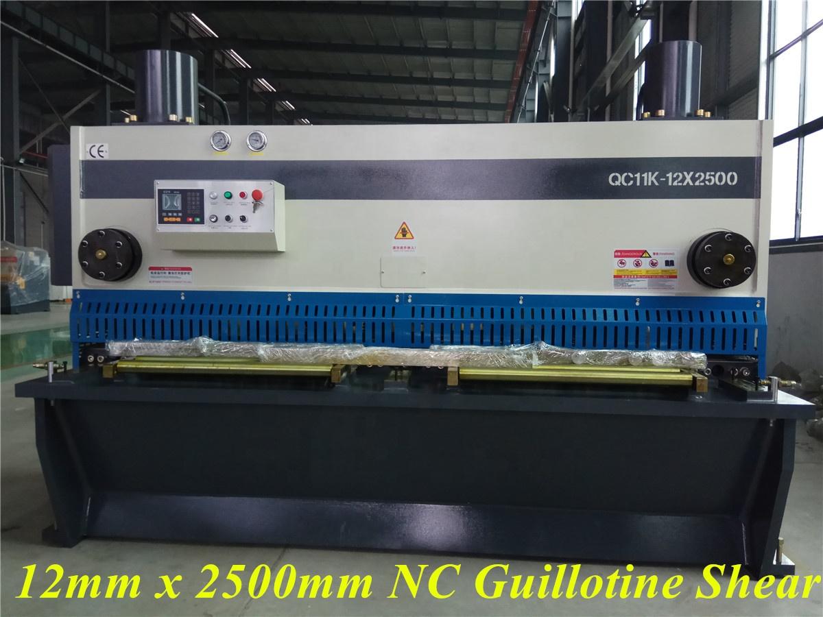 AHYW Anhui Yawei CNC Front feeding system Gilotyny Mechaniczne QC12K 20X3200