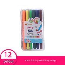 Набор цветных маркеров, Двойные наконечники, акварельные ручки, жидкие чернила, влажная стирание, упакованный чехол, принадлежности для худ...(Китай)