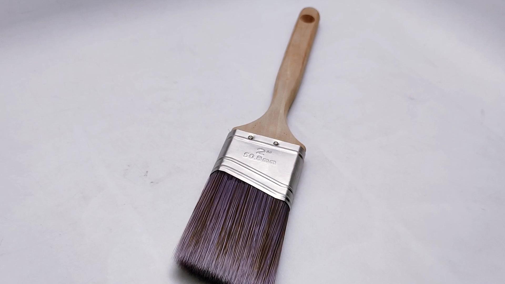 Китайский стиль деревянная ручка отделкой и стен полиэстер угла 2-в малярная кисть