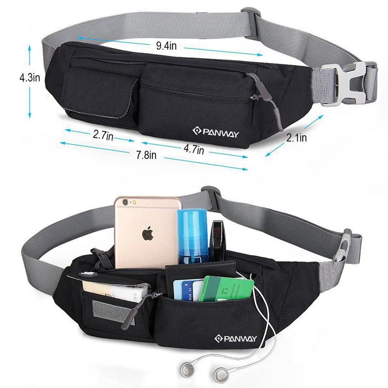Stylish Custom Logo Waterproof Outdoor running belt women hiking bum fanny pack Waist bags for men